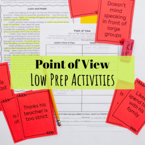 Point of View Low Prep Activities