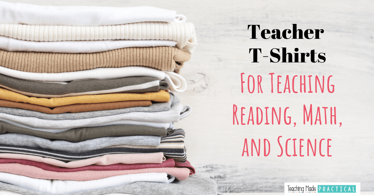 These teacher t-shirts will help make teaching math, reading, and science more memorable in your 3rd, 4th, or 5th grade classroom