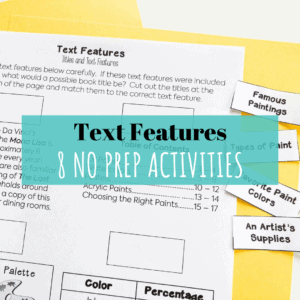 Text Features No Prep Activities