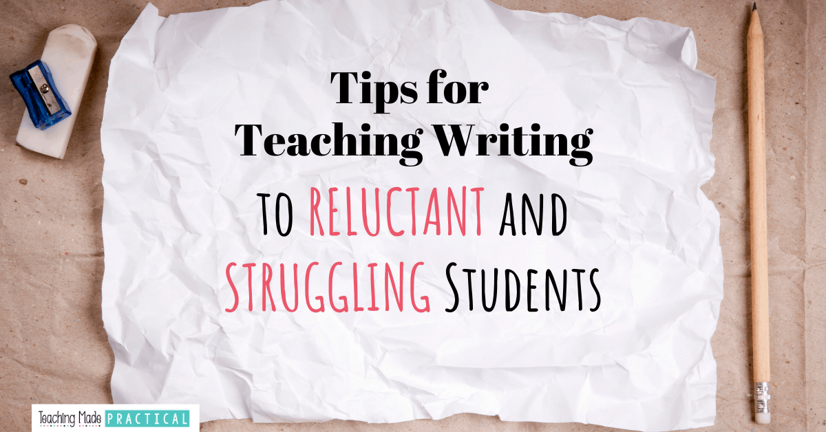 Motivate reluctant writers with these tips for teaching writing