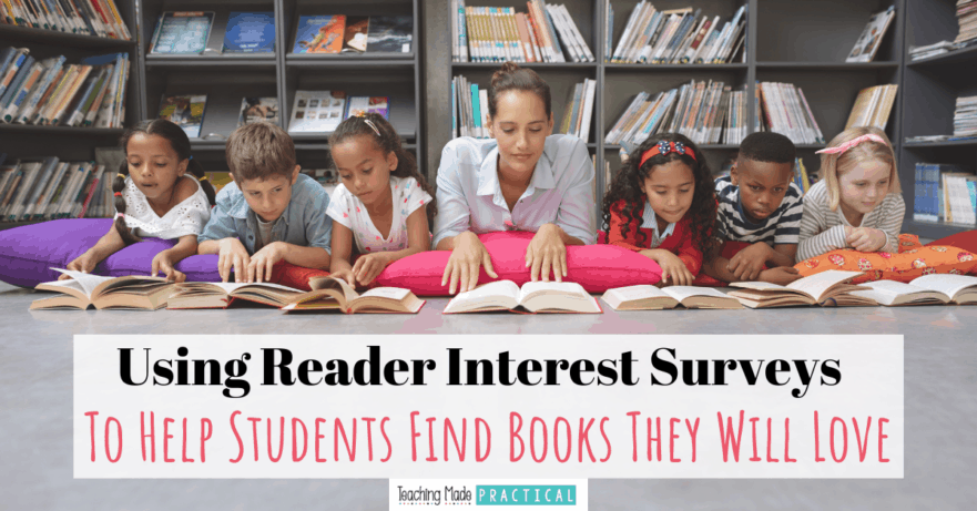 Digital or paper student interest surveys can help you guide 3rd, 4th, and 5th grade students to books they will love to read