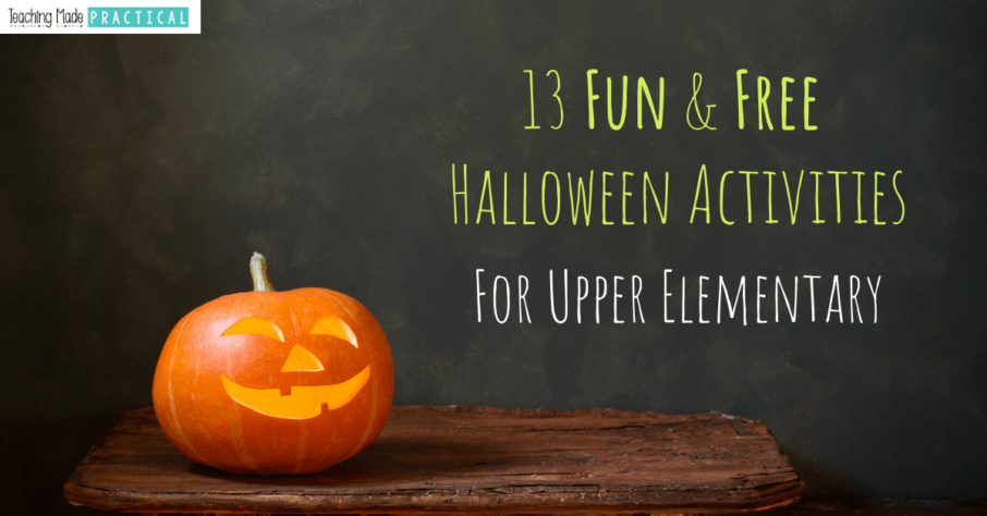 free reading and math Halloween activities for 3rd, 4th, and 5th grade students