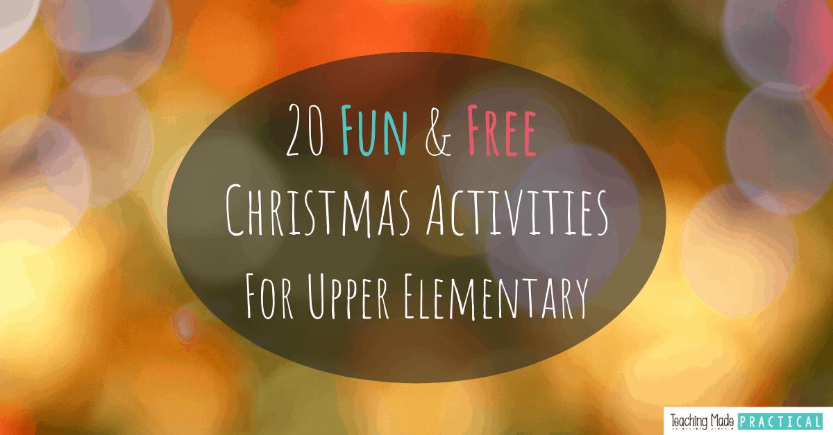 Free Christmas printables for 3rd grade, 4th grade, 5th grade