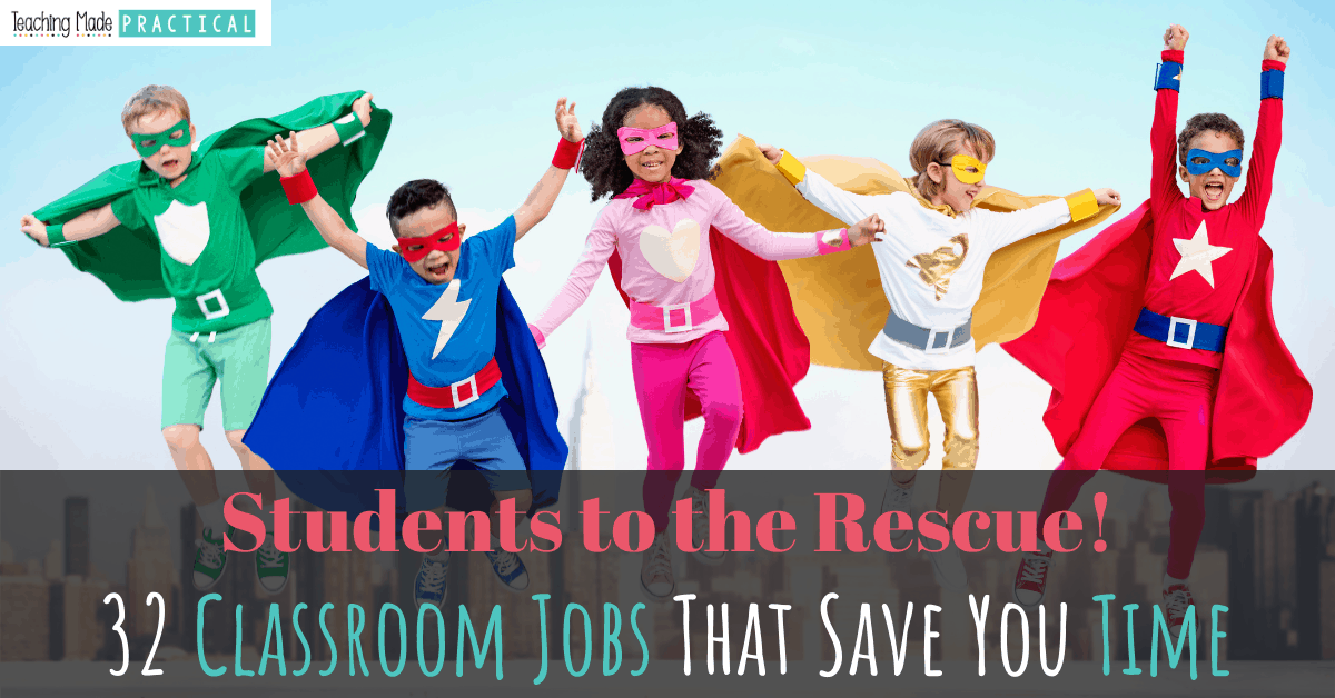 32 meaningful classroom job ideas - a list for 3rd, 4th, and 5th grade students