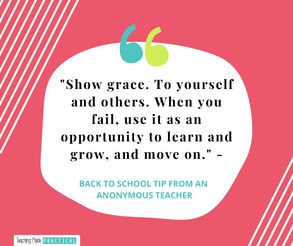 Back to School Tip for third, fourth, and fifth grade teachers - Show Grace