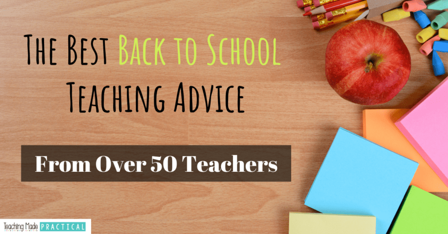 Back to School Advice for 3rd, 4th, and 5th grade teachers -from veterans!