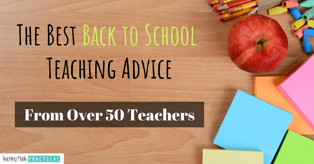 back to school teacher tips for 3rd, 4th, and 5th grade students - advice from real teachers