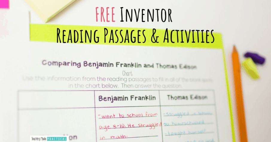 Free reading passages and reading comprehension worksheets for 3rd, 4th, and 5th grade