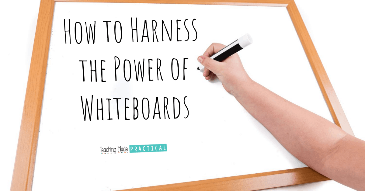 Using Whiteboards and Dry Erase Markers in the Classroom - classroom management procedures to think about for 3rd grade, 4th grade, and 5th grade.