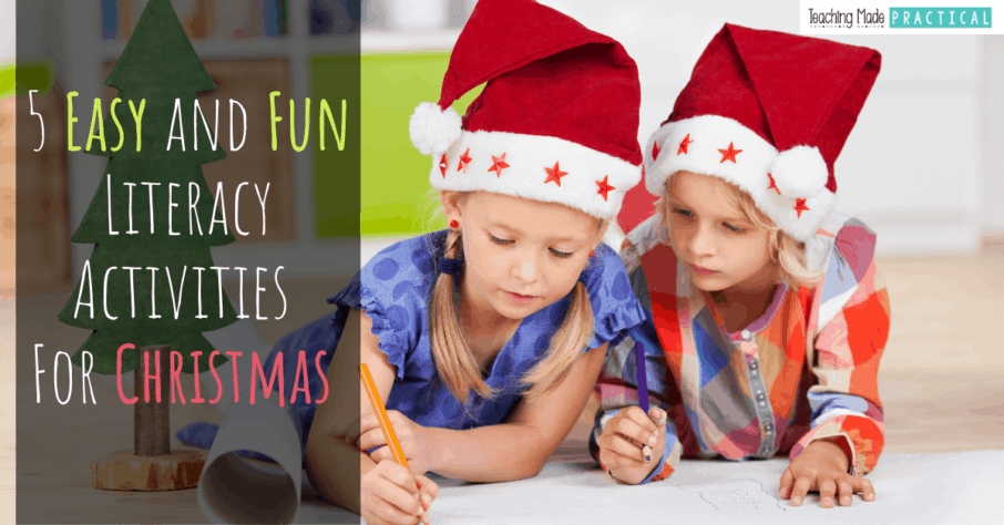 Christmas literacy / reading activities for 3rd, 4th, and 5th grade