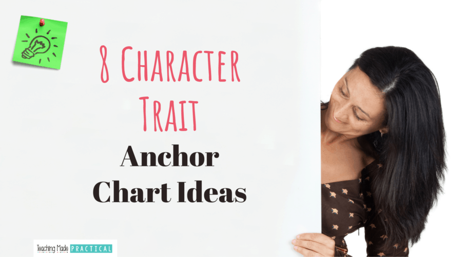 Character Trait Anchor Chart Ideas for 3rd, 4th, and 5th grade teachers
