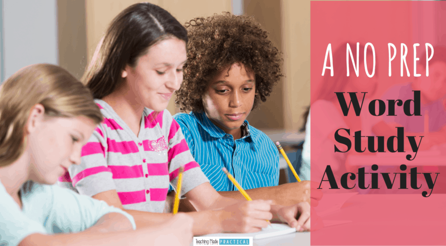 Adapt this free word study activity to almost any reading lesson for 3rd, 4th, and 5th grade students