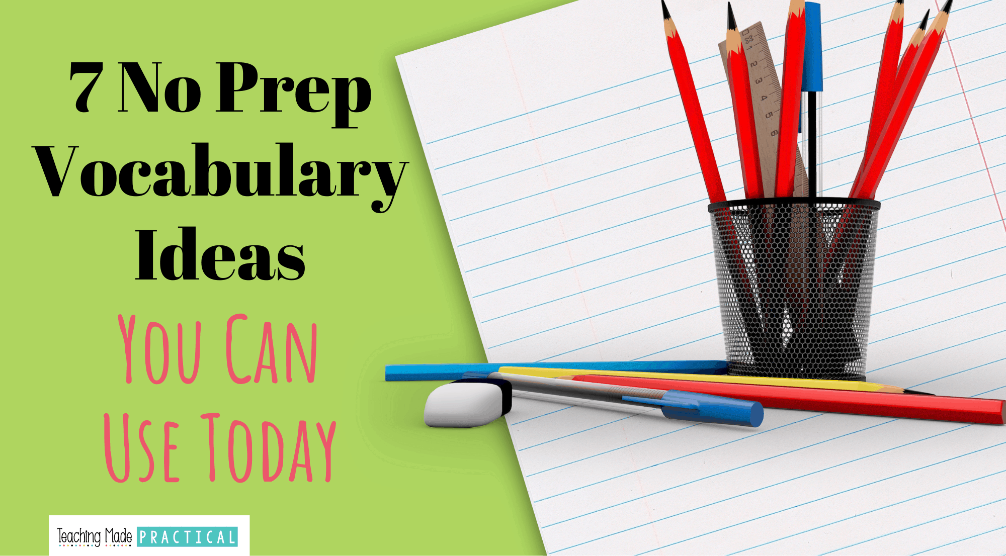 no prep vocabulary ideas and activities for 3rd, 4th, and 5th grade