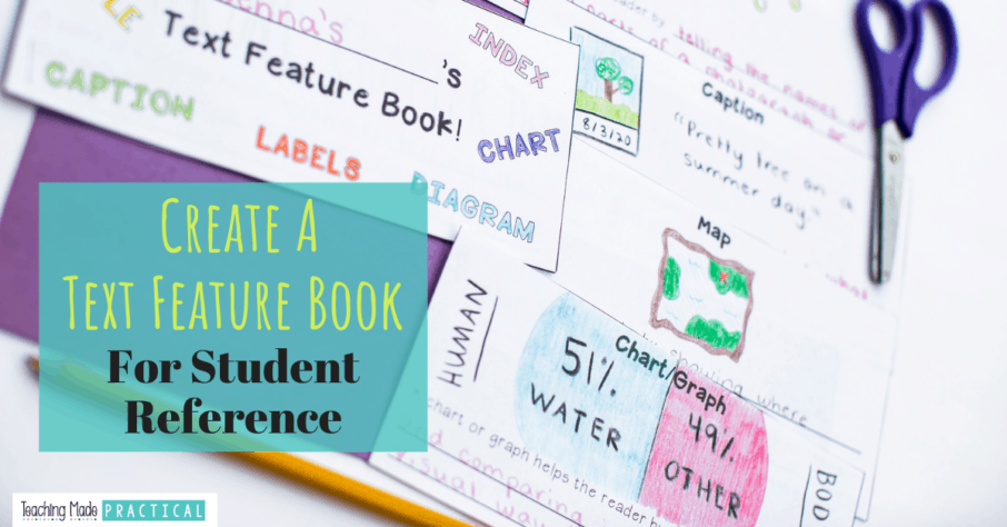 Making a text features booklet is a low prep, engaging way to help students develop a better understanding of nonfiction text features