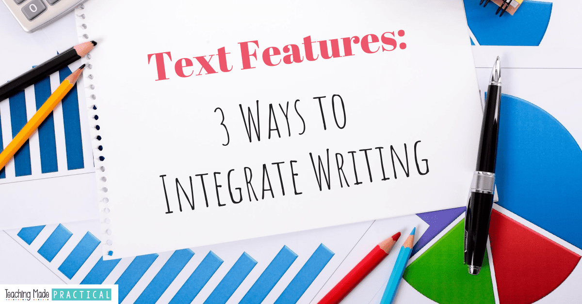 Review nonfiction text features with lessons that integrate writing for your 3rd, 4th, and 5th grade students