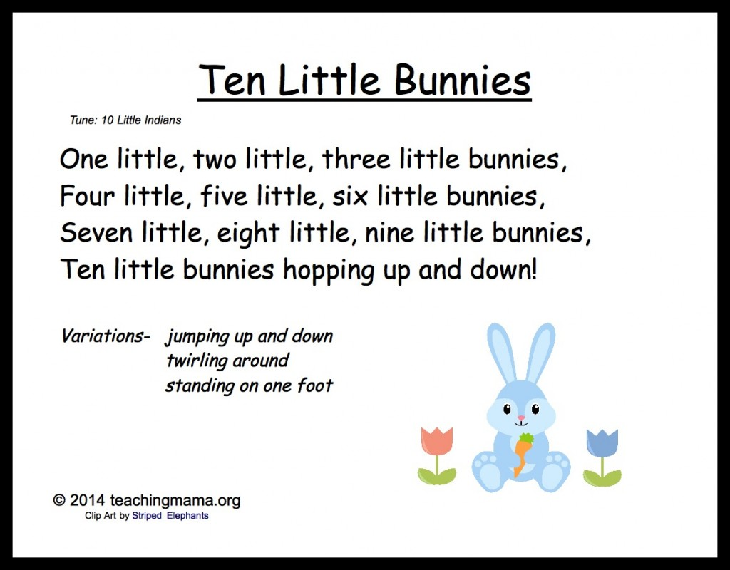 Preschool Bunny Songs