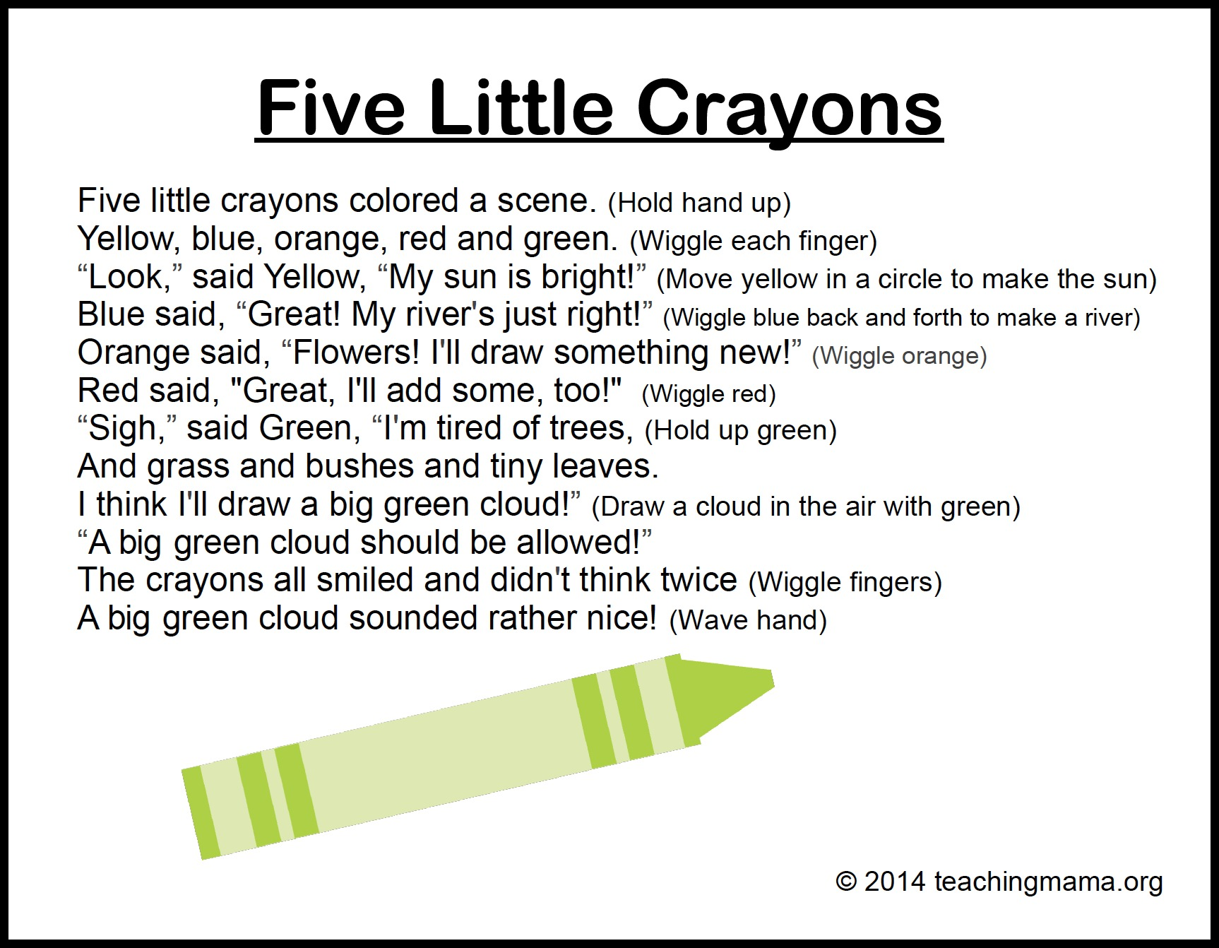 10 Preschool Songs About Colors