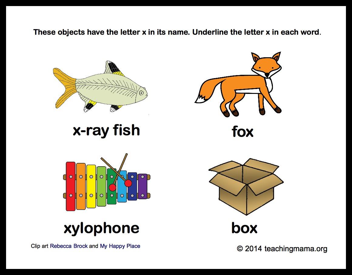 Underline Letter X