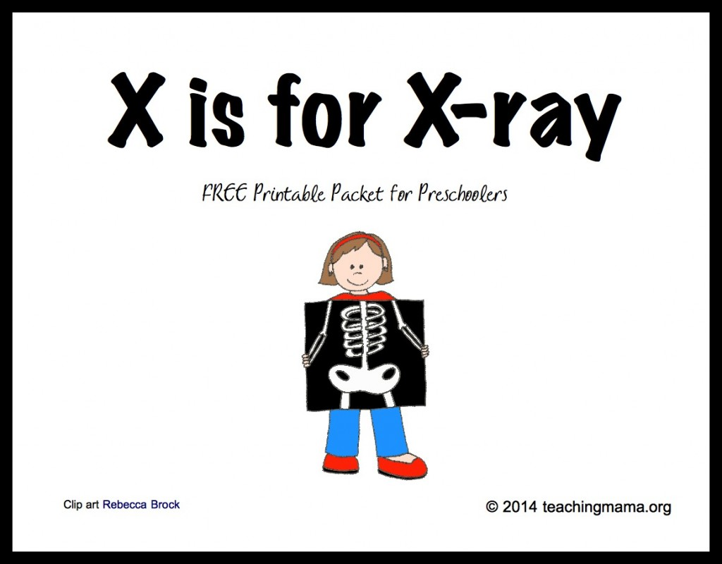 X Ray Themed Printables And Pretend Play