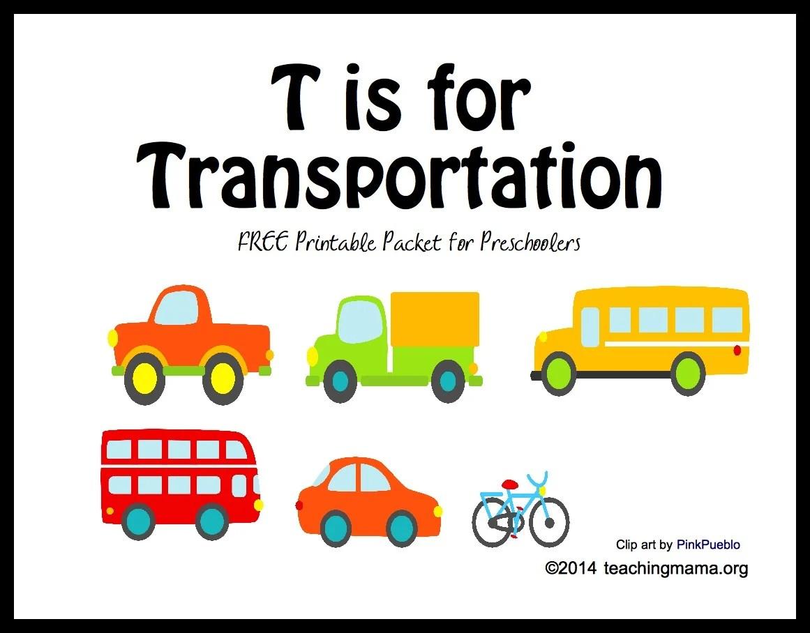 T Is For Transportation Letter T Printables