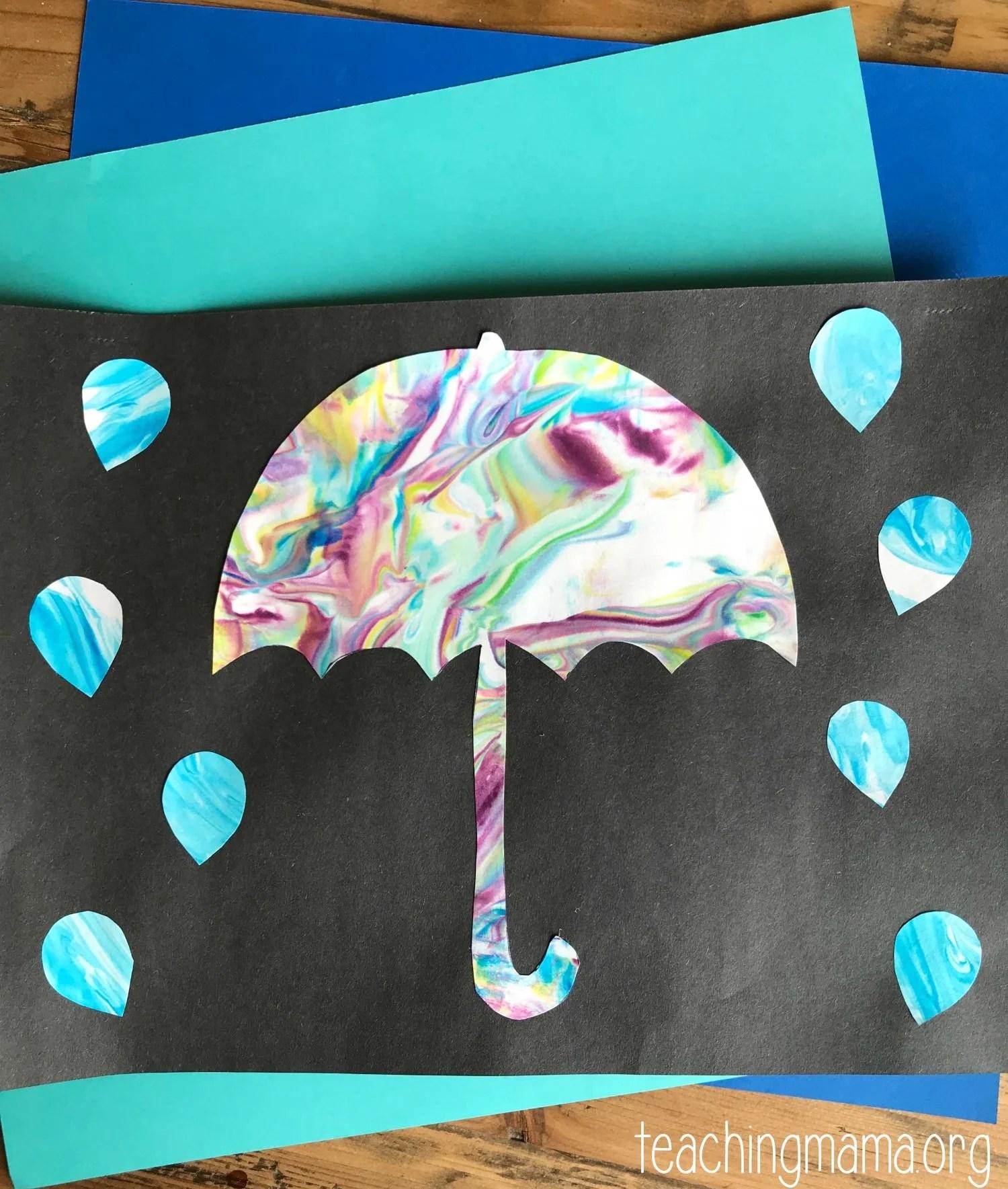 Umbrella Preschool Craft
