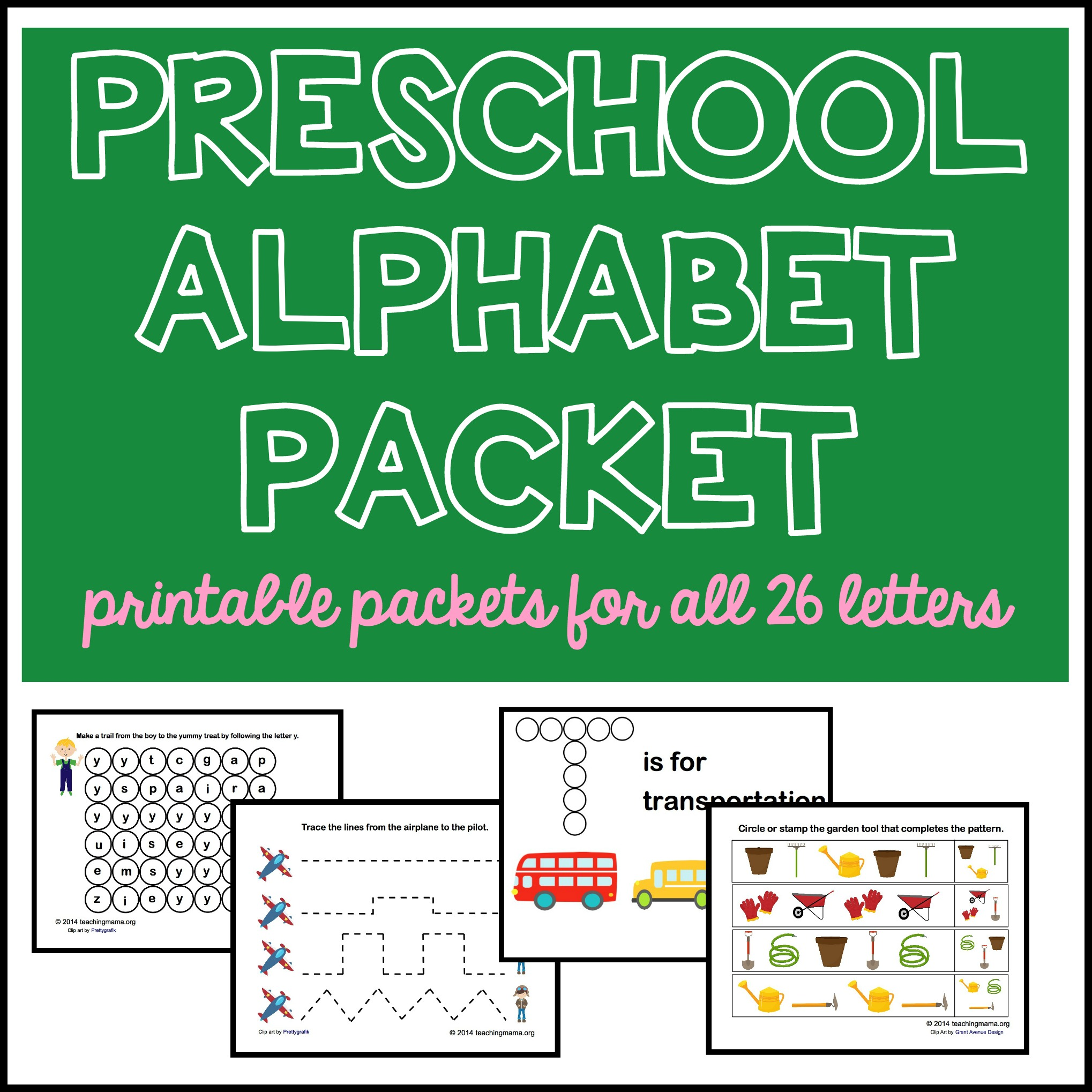 Preschool Alphabet Packet