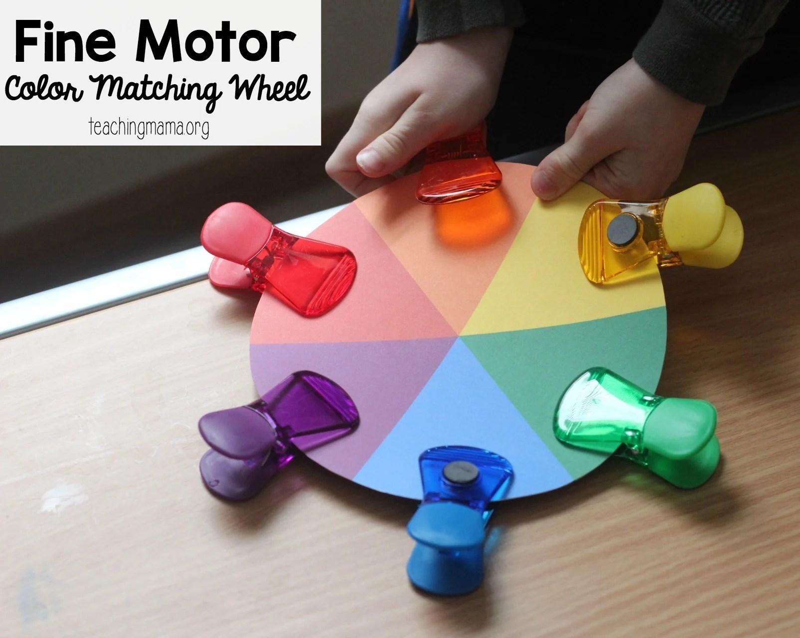 Fine Motor Color Matching Wheel Fb