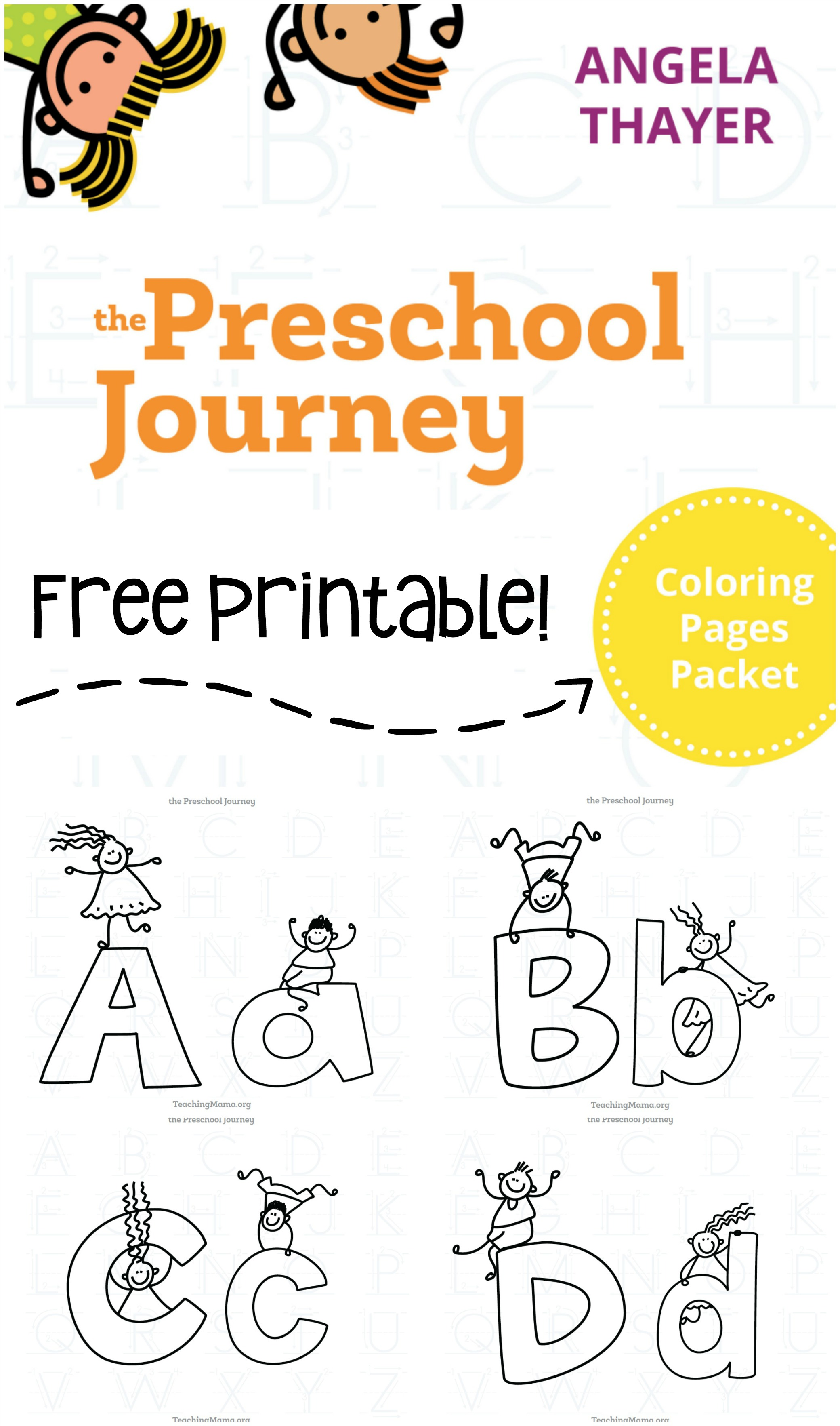 Alphabet Coloring Pages Packet