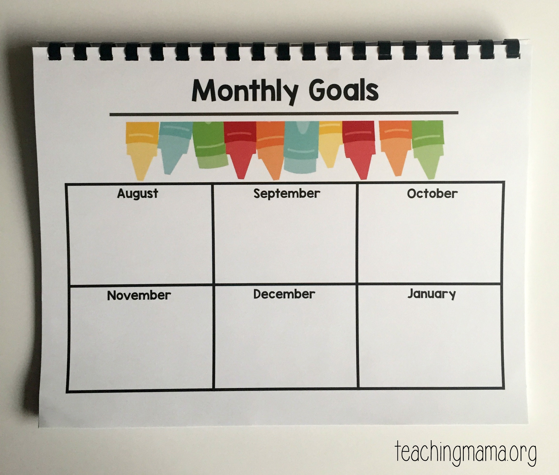 Printable Classroom Planner For
