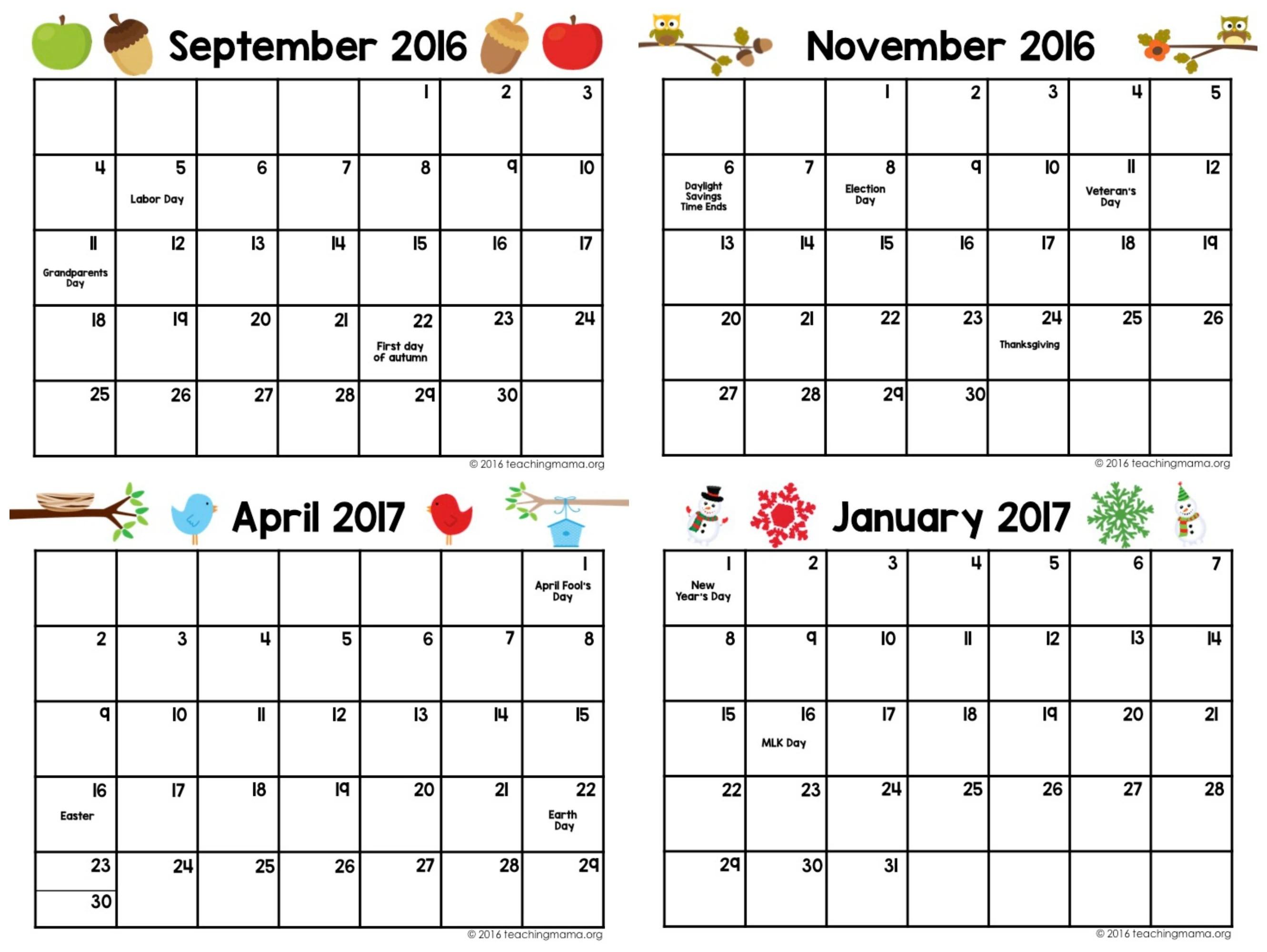Printable Preschool Planner