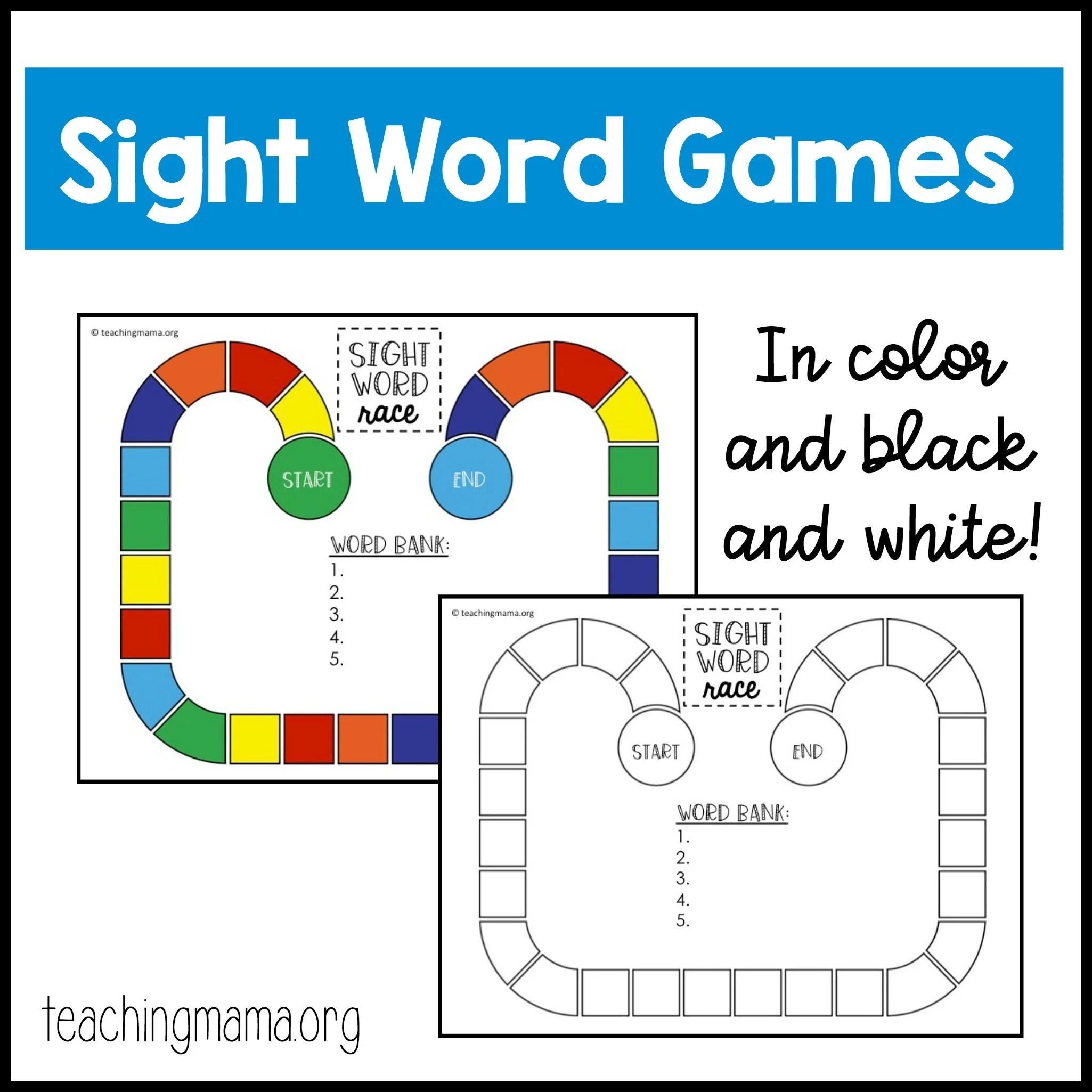 Printable Board Game Kindergarten