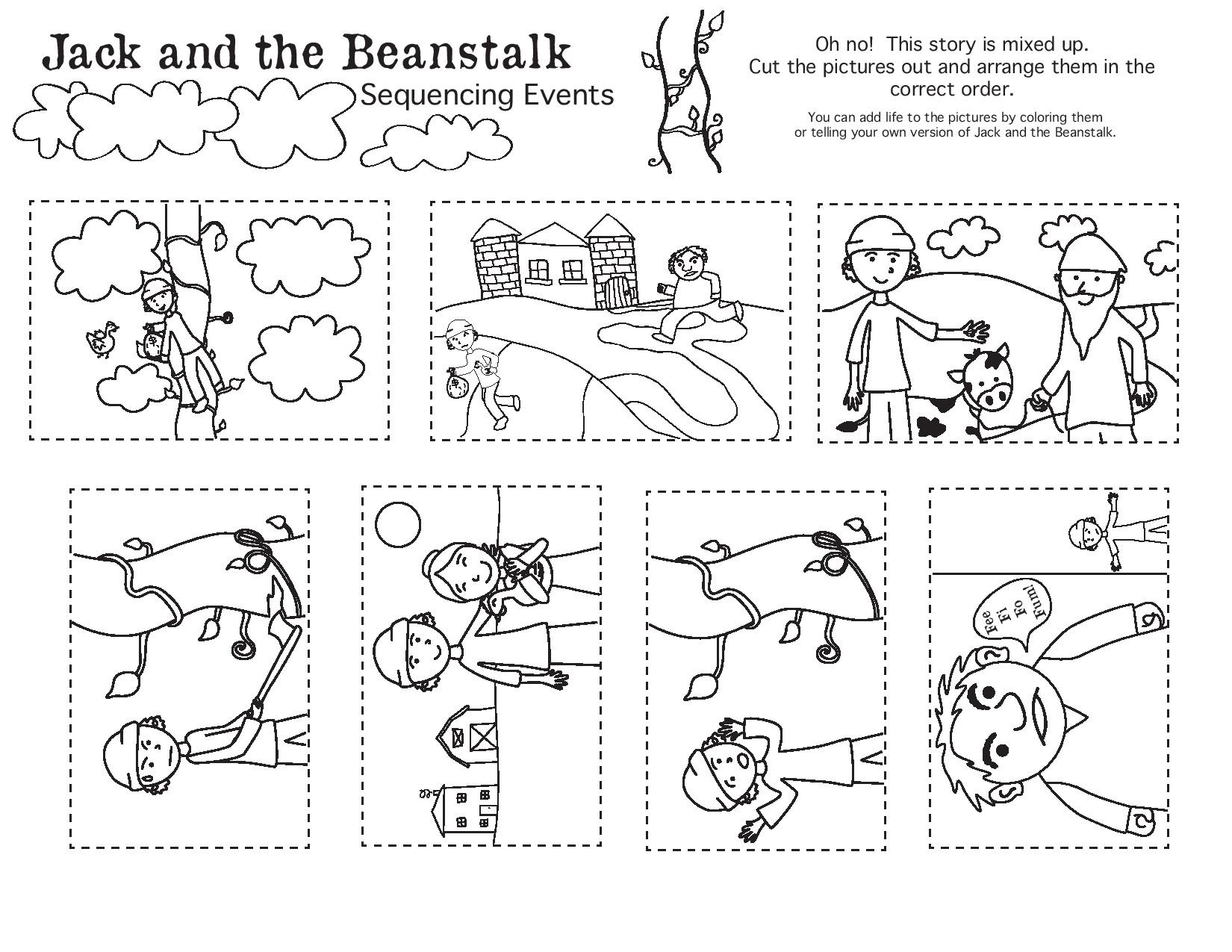Fairy Tale Story Map Worksheet