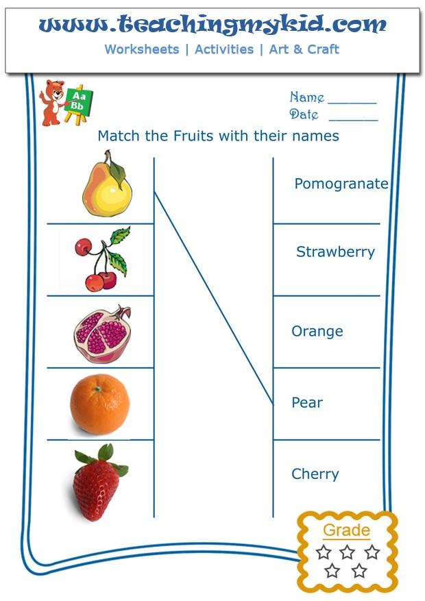 Preschool Worksheet Gallery Matching Preschool Worksheets