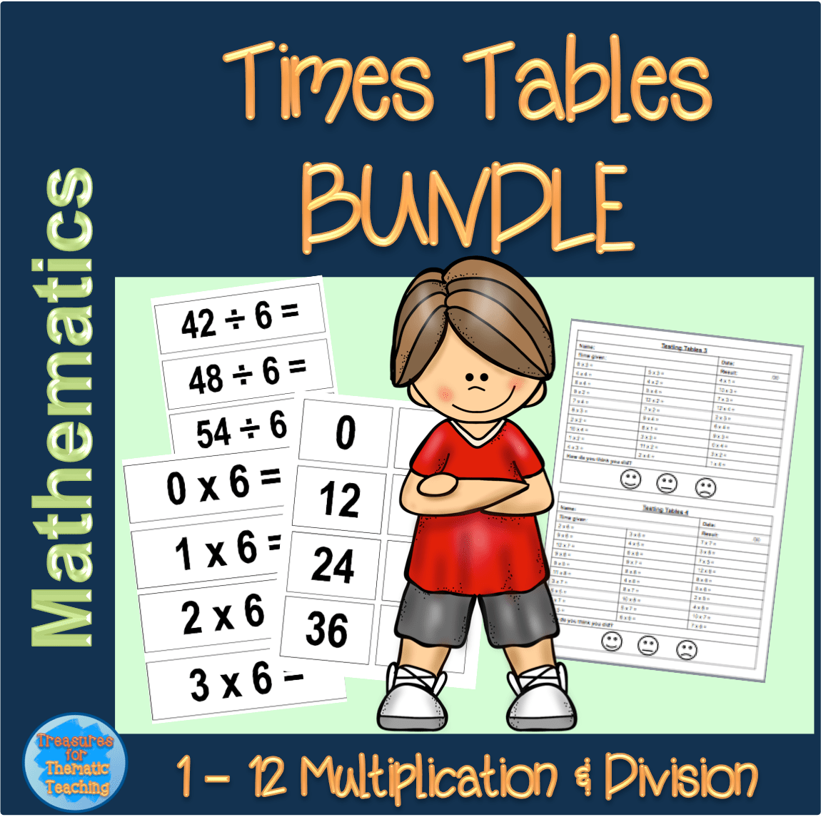 Times Tables Bundle Flashcards And Tables Tests Teacha