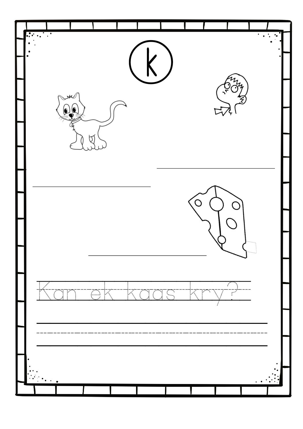 Worksheet For Grade 3 Afrikaans