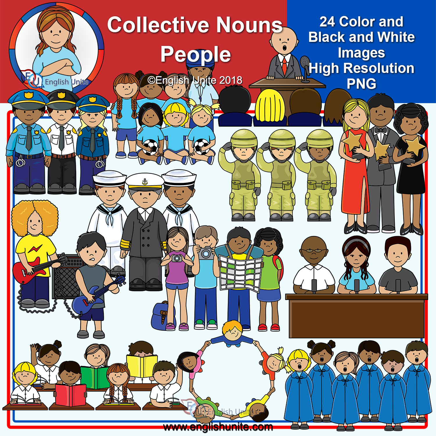 Clip Art Collective Nouns People Teacha