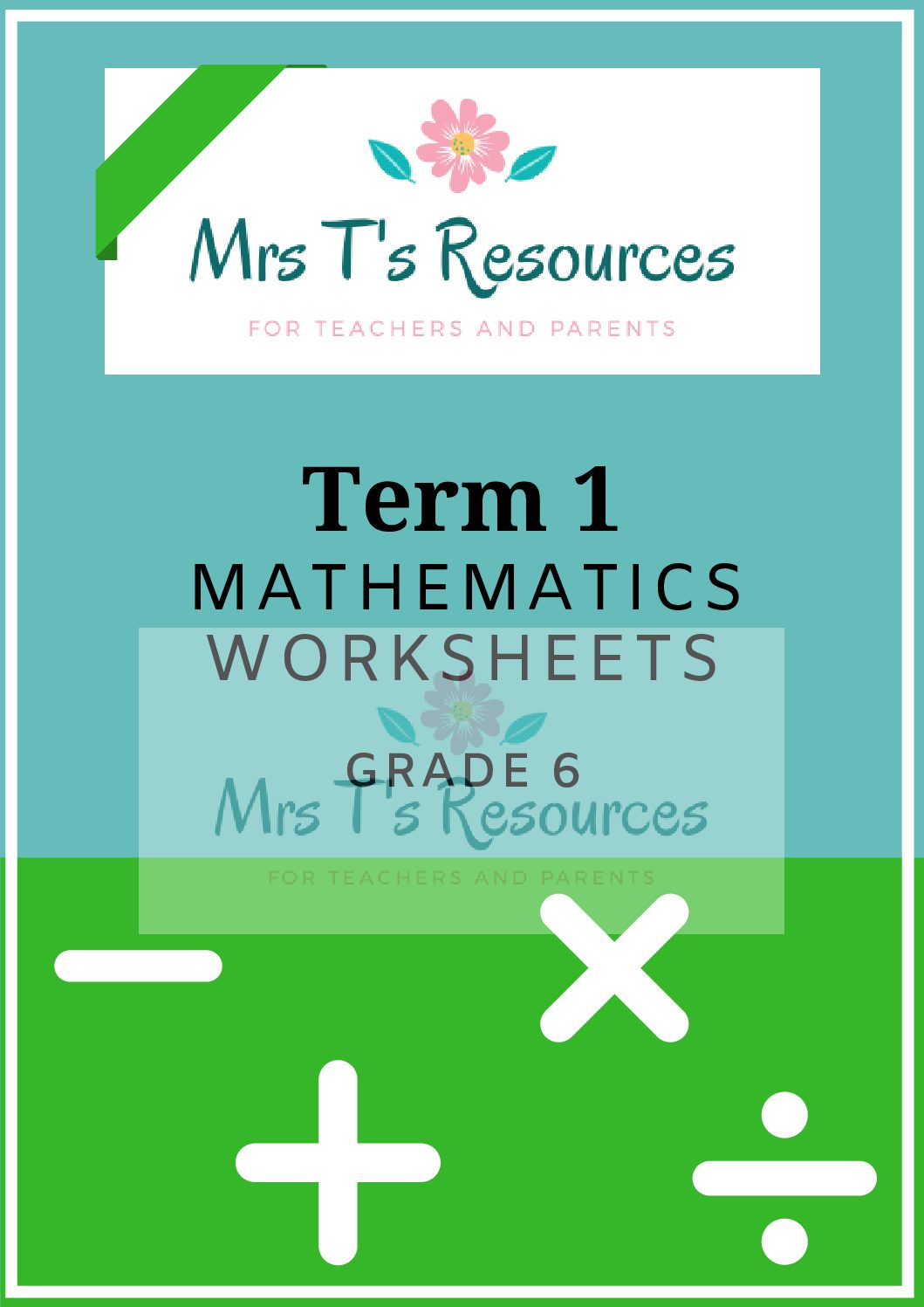 Grade 6 Mathematics Worksheets Term 1