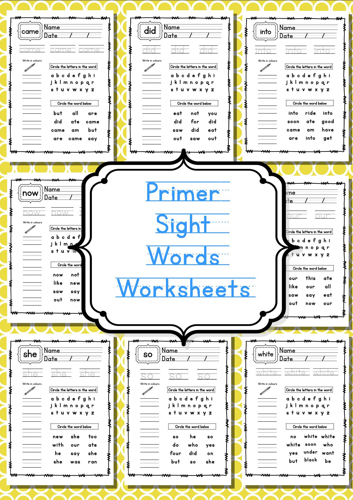 New 939 Sight Word Worksheets