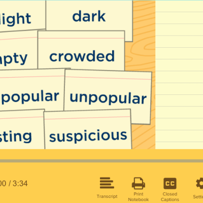 Synonyms and Antonyms Videos