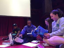 Students gather to explore Shakespeare. (James R. Brantley)