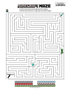 Minecraft Maze Teaching Squared