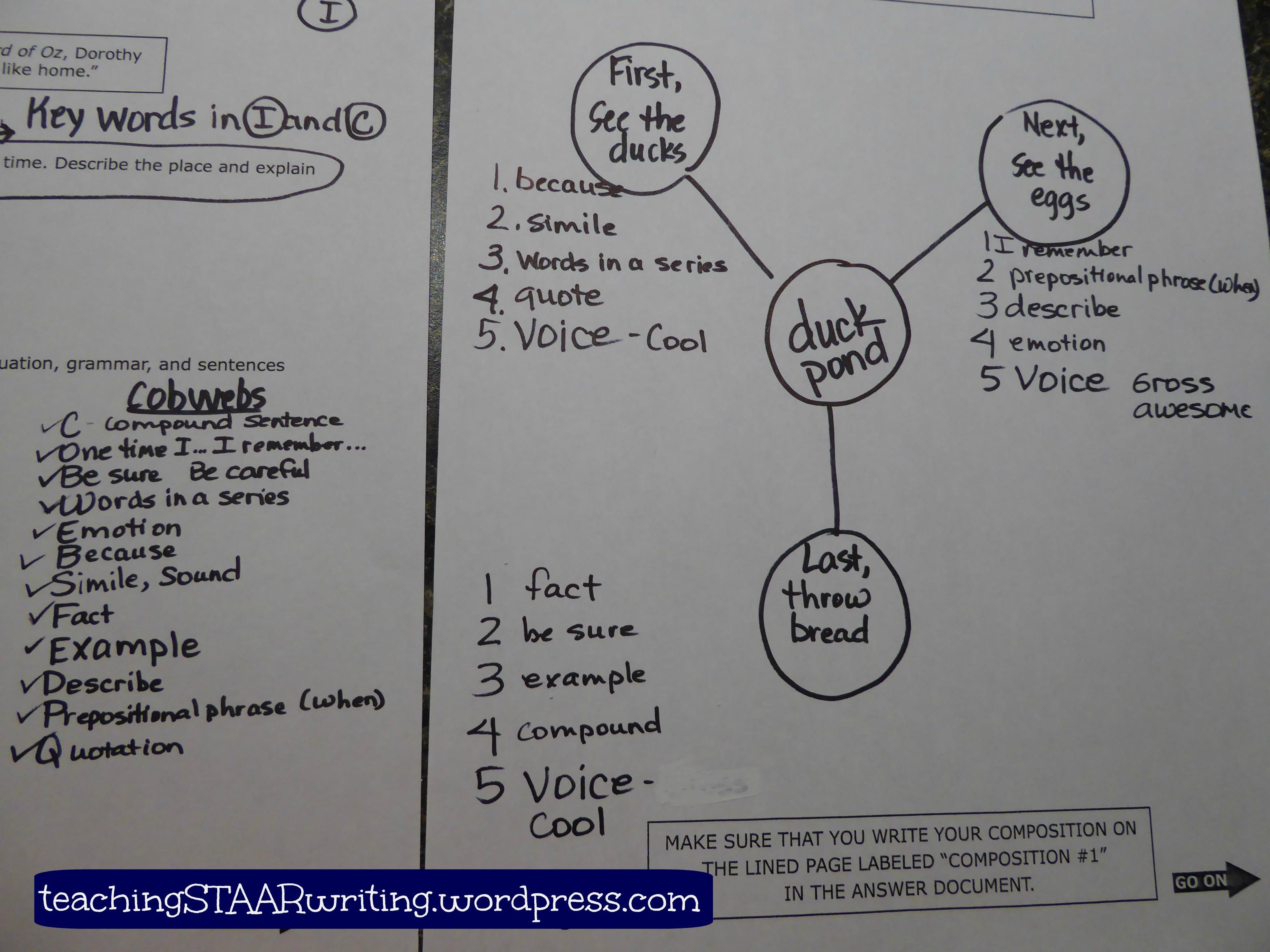 Pre Writing Using The Checklist