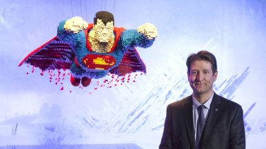 lego superman and artist