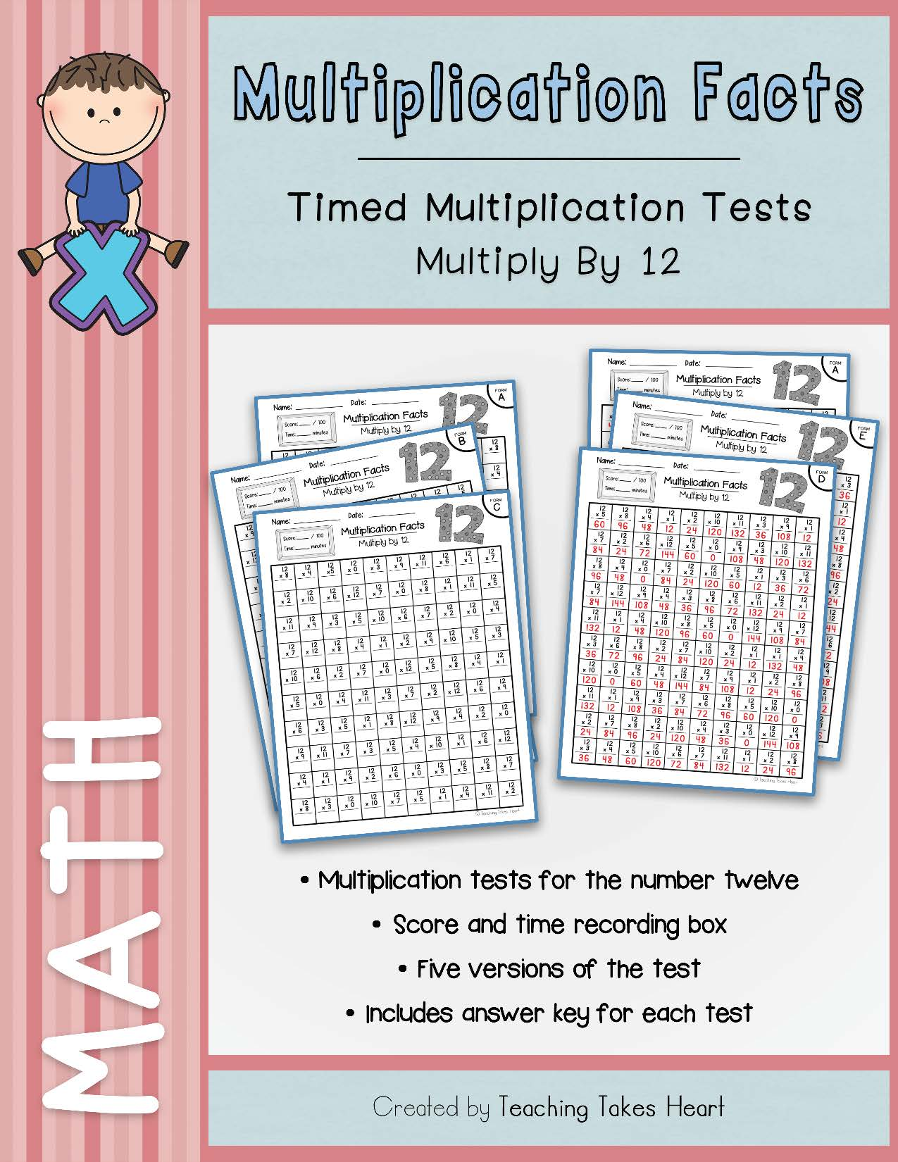 Multiplication Timed Tests Multiply By 12