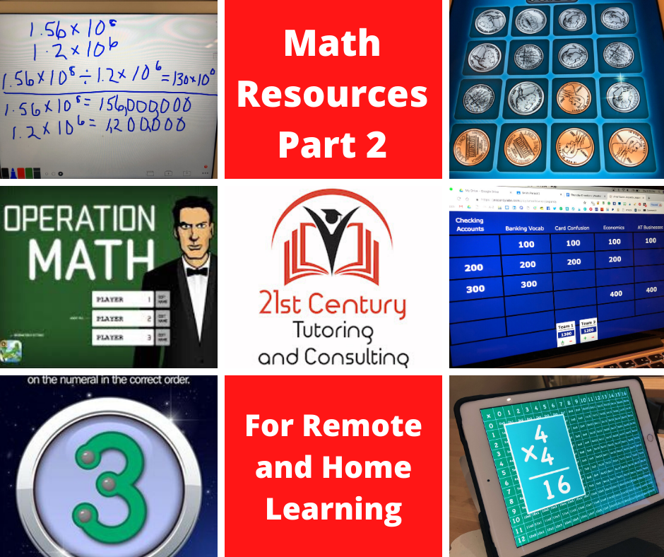 More Math Resources for Remote and Home Learning!