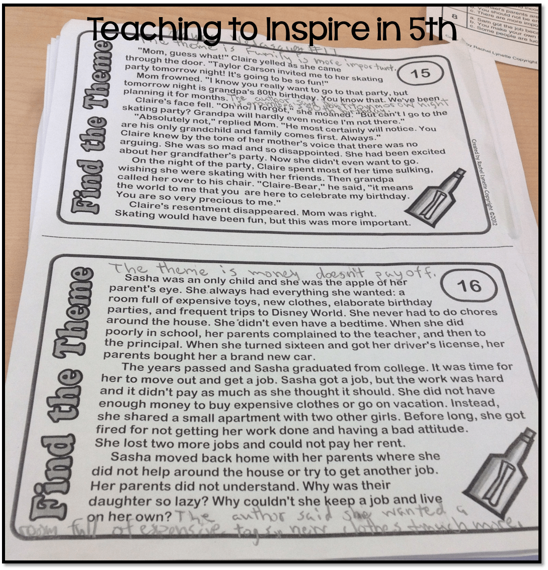 Teaching Theme In The Upper Grades And A Freebie