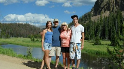 My father, step-mother, brother, and myself in Colorado.