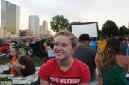 Abby Jo as we wait for the movie in the park to begin