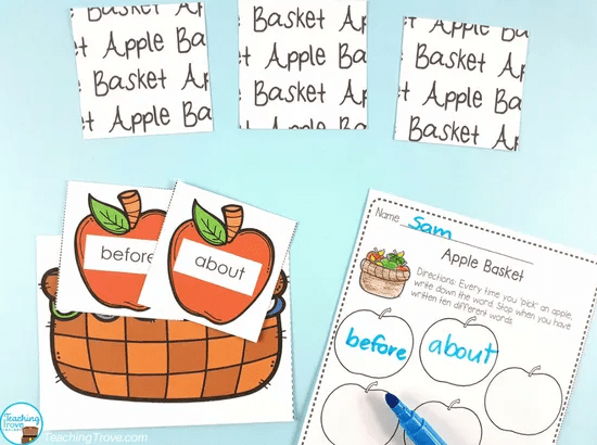 Editable games to use with sight words, spelling words, theme words, phonics.