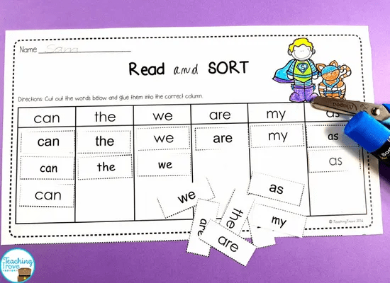 Sight word activities make learning sight words fun
